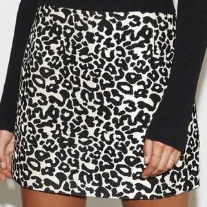 Kendall and Kylie leopard skirt